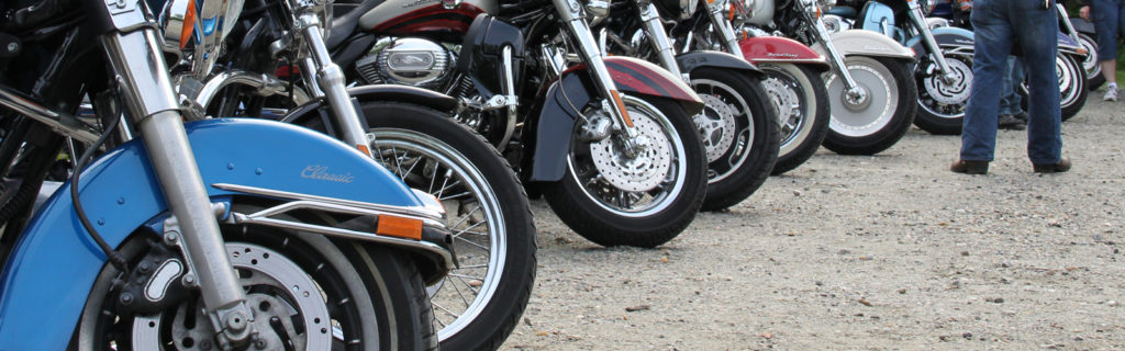 Full Parking Lot during a Motorcycle Group Trip